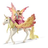 SCHLEICH Bayala Fairy Feya with Pegasus Unicorn Toy Figure (70568)