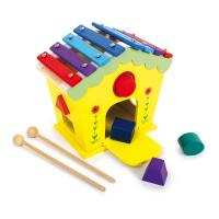 LEGLER Small Foot Dodoo House of Sounds and Activities Wooden Musical Kid's Toy, Unisex, 18 Months or Above, Multi-colour (6620)